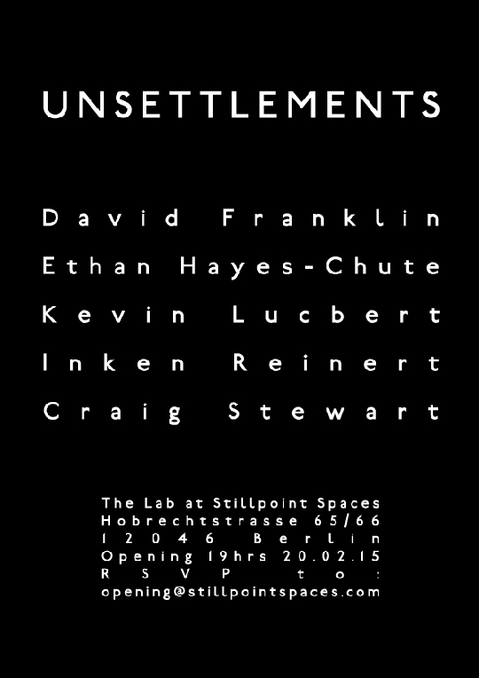David Franklin Unsettlements flyer
