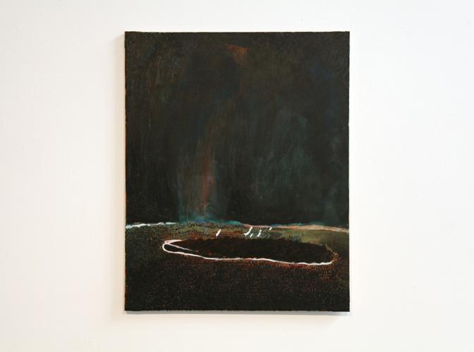 David Franklin artist Artwork Reclamation 02 Painting Study for a half-imagined landscape I