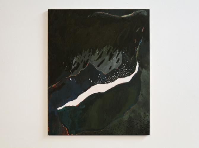 David Franklin artist Artwork Reclamation 03 Painting Study for a half-imagined landscape 2