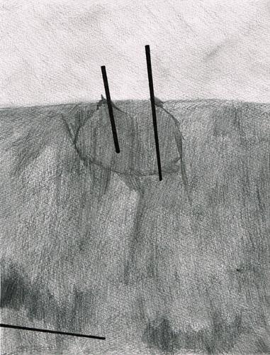 David Franklin artist Artwork drawing Unconscious Landscape 1