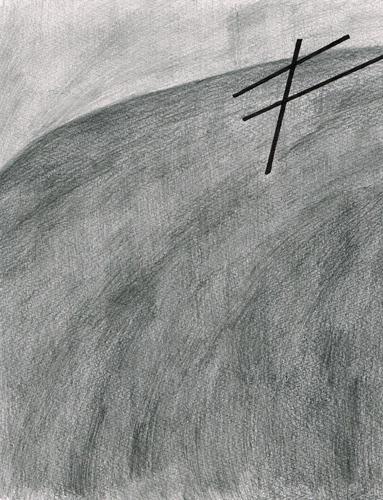 David Franklin artist Artwork drawing Unconscious Landscape 2