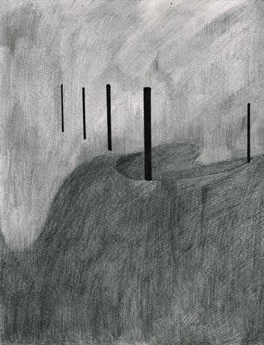 David Franklin artist Artwork drawing Unconscious Landscape 4